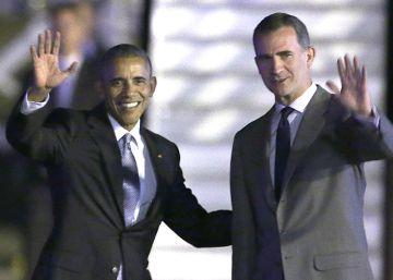La llegada de Barack Obama a España, en imágenes