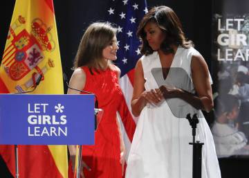 In Madrid, Michelle Obama calls for global fight against gender inequality