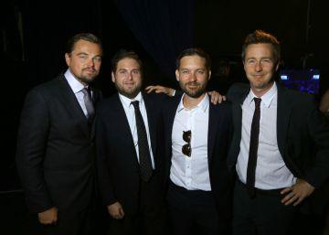 DiCaprio, de fiesta solidaria entre amigos y supermodelos