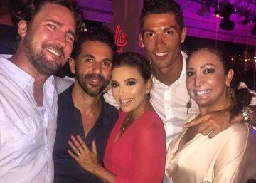 Cristiano Ronaldo, de fiesta con Eva Longoria