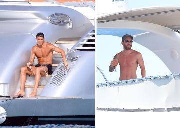 El rastro de Cristiano y Messi en Ibiza