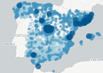 La renta en los municipios de España