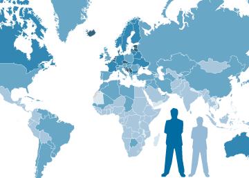 Altura media por países