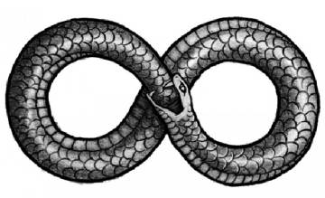 Un grabado con el símbolo de infinito.