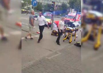 Primeras imágenes de los heridos en el tiroteo de Múnich
