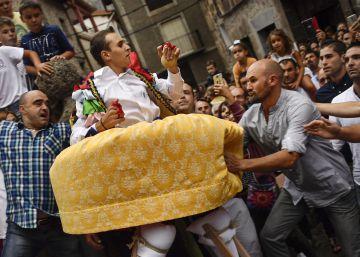 La danza sobre zancos en Anguiano