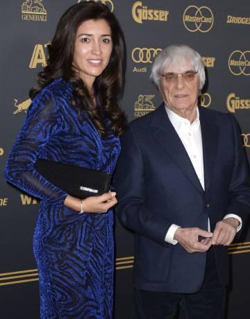 Bernie Ecclestone y Fabiana Flosi, en Alemania.
