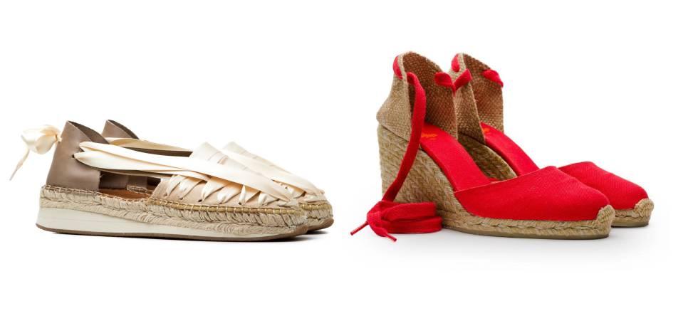 Las alpargatas SOC, de la marca Naguisa, y, a la derecha, un modelo de la firma Castañer.