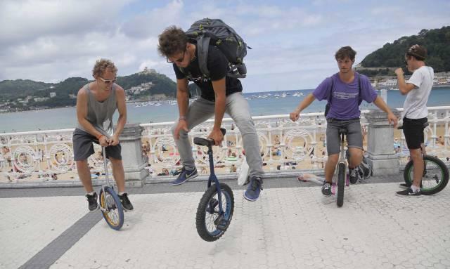 San Sebastián acoge desde este jueves los mundiales de monocclo.