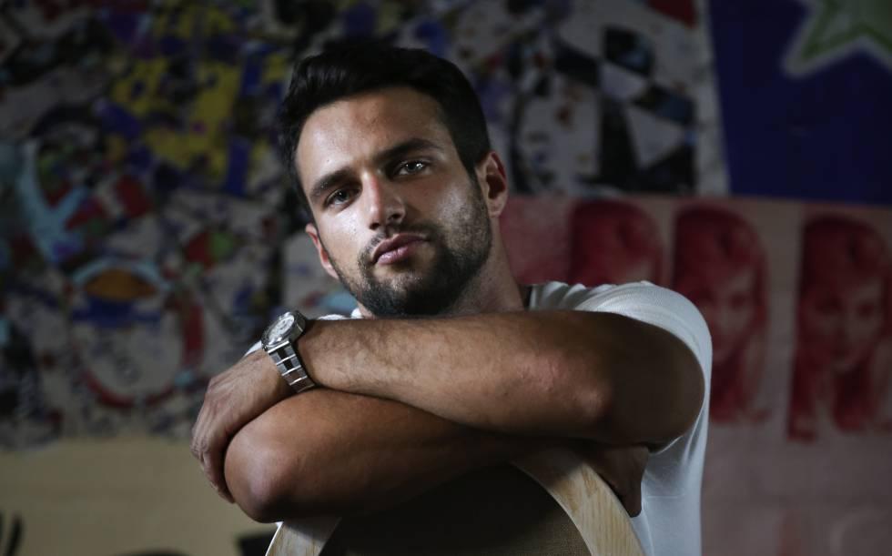 El actor Jesús Castro, en el Palacio de Santa Barbara.