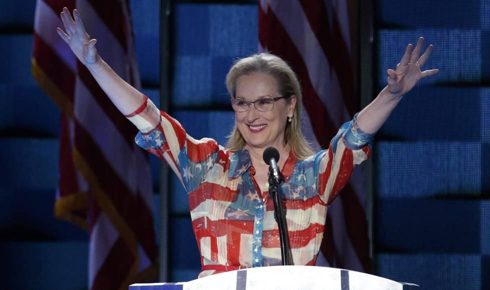 La actriz Meryl Streep, el pasado martes en la convención demócrata celebrada celebrada en Filadelfia.