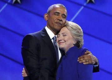Obama arropa a Hillary Clinton