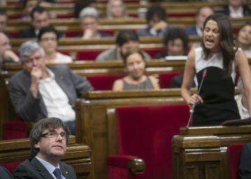 Pleno del Parlamento de Cataluña.