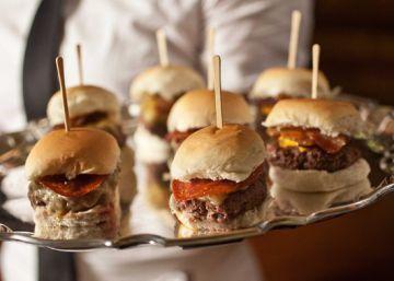 Una muestra de hamburguesas del restaurante P J Clarke de Nueva York.
