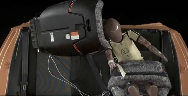 Prueba de seguridad de una silla infantil.