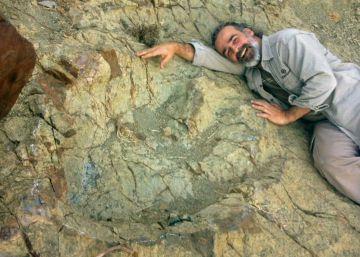 Así es la huella de dinosaurio más grande del mundo
