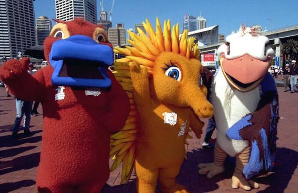 Las mascotas de los Juegos de Sidney representaban a un kookaburra, un ornitorrinco y una equidna.
