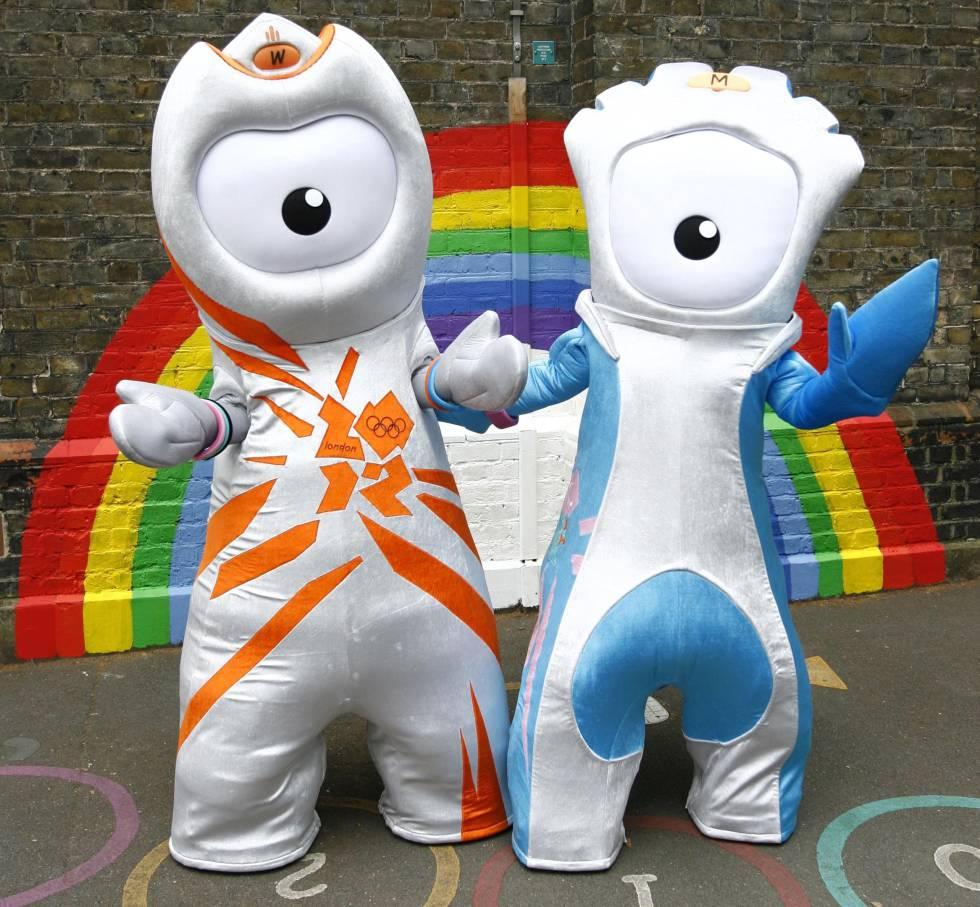 Wenlock y Mandeville, mascotas de los Juegos Olímpicos y Paralímpicos de Londres '12.