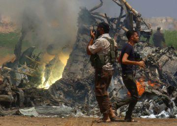 Helicóptero ruso derribado en Siria