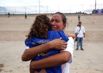 Tres minutos para el reencuentro entre la frontera de EE UU y México