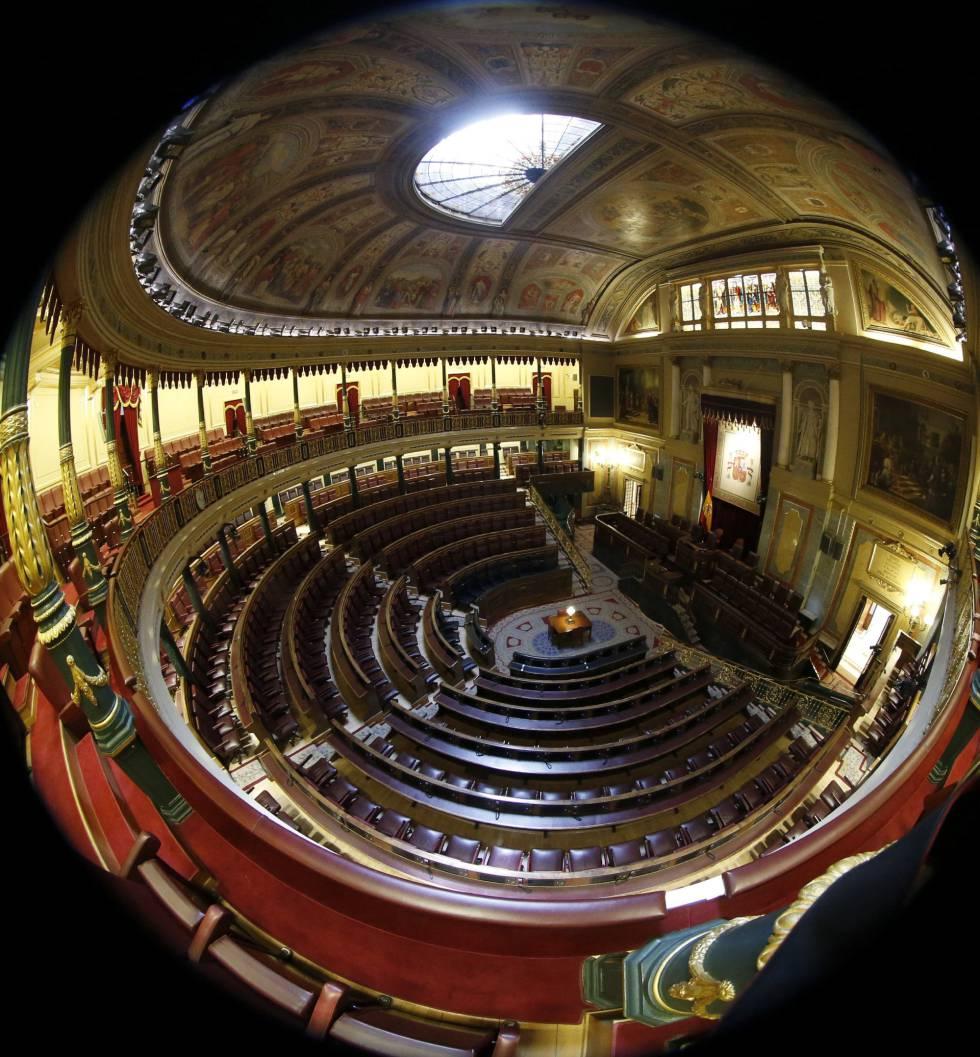 Vista general del hemiciclo del Congreso de los Diputados este jueves.