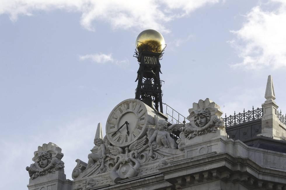 Fachada de la sede del Banco de Españal.