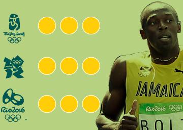 El triple-triple de Bolt en los Juegos Olímpicos