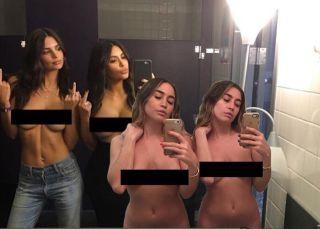 Las gemelas que pintan con el culo y se burlan de Kim Kardashian