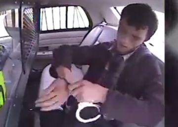 Un detenido intenta fugarse tras salir eyectado de un coche policial