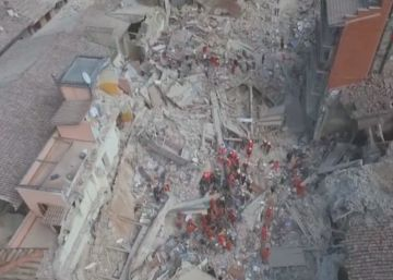 El terremoto de Italia, a vista de dron
