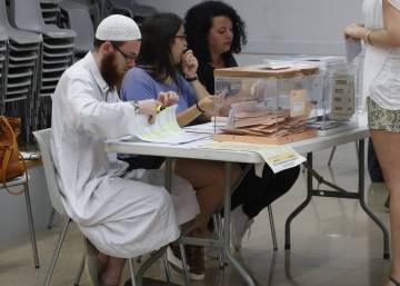The jihadist suspect manning a polling station in Catalonia