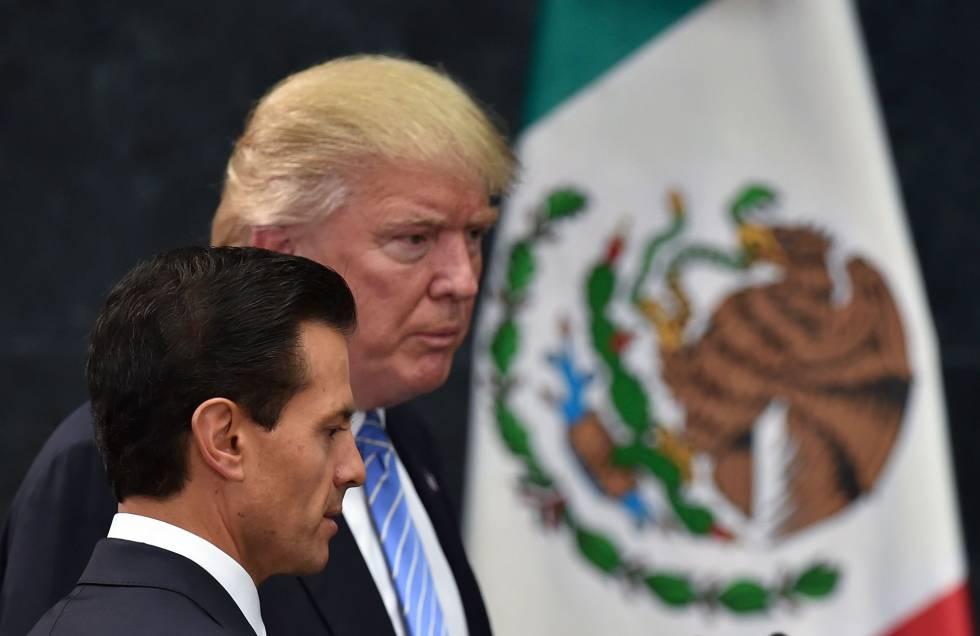 Peña Nieto y Trump durante la comperecencia de ambos ante la prensa.