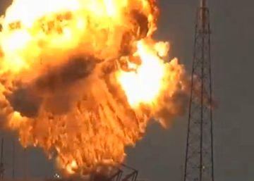 Así fue la explosión del cohete Falcon 9 de SpaceX en Cabo Cañaveral