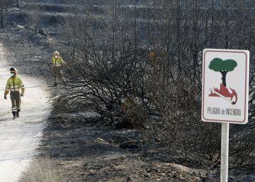 Incendio forestal en Jávea