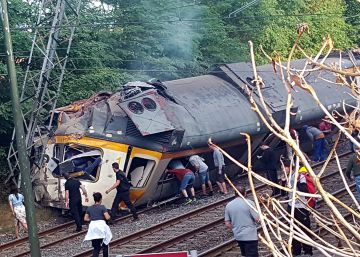 Accidente de tren en Galicia