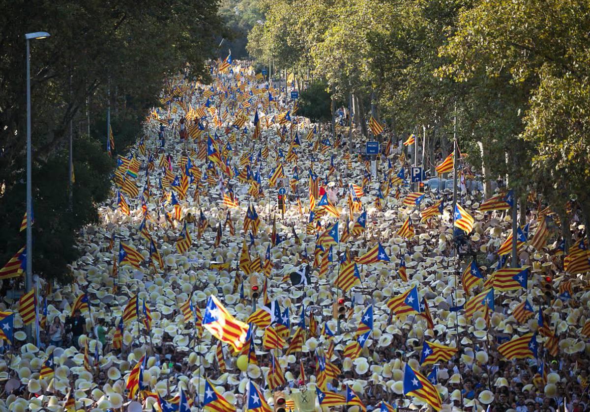 Manifestación de la Diada en Barcelona.
