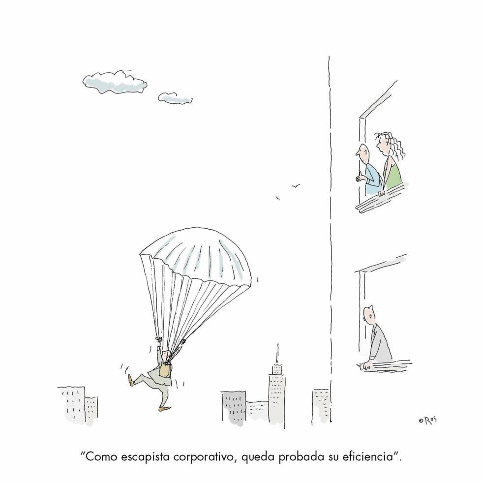 - As a form of corporate escape, it's certainly efficient.