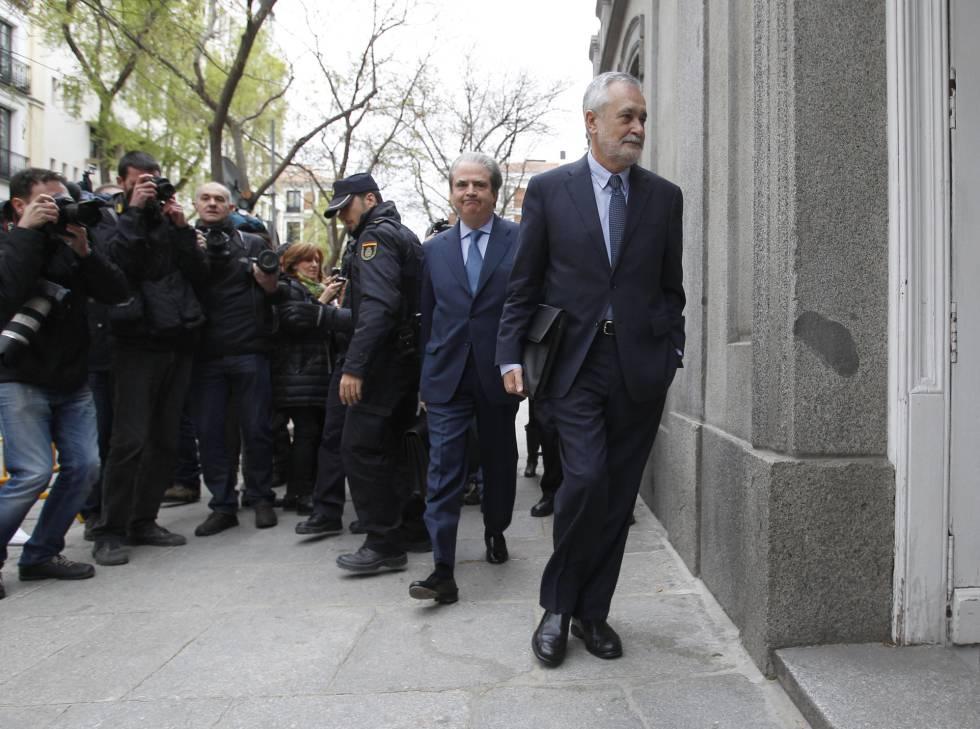 José Antonio Griñán, expresidente de la Junta de Andalucia declara como imputado en el Tribunal Supremo por el caso de los eres .
