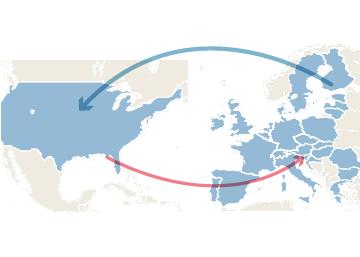 Relación comercial entre EE UU y UE