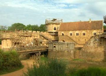 Construyen un castillo con técnicas auténticamente medievales