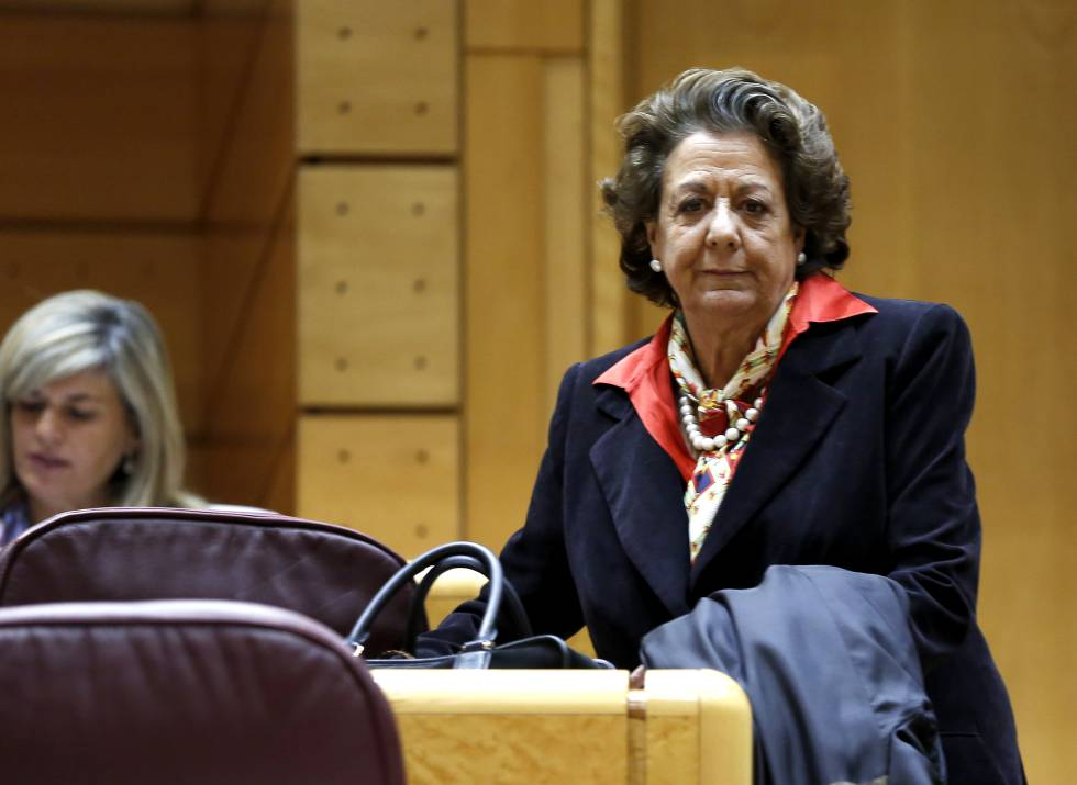 Rita Barberá, exalcaldesa de Valencia y senadora del PP, en el hemiciclo del Senado