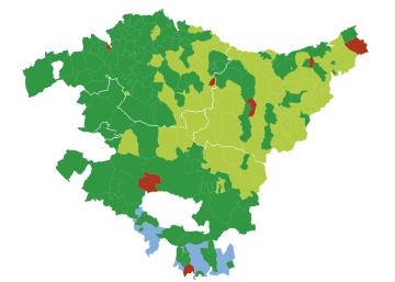 Resultados electorales en País Vasco