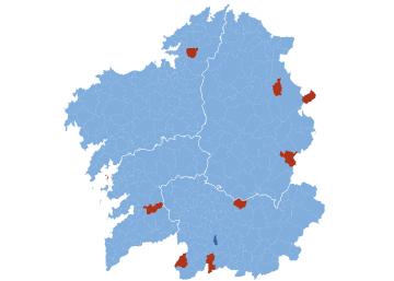 Resultados electorales en Galicia