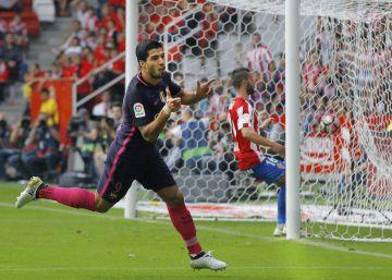 Las imágenes del Sporting - Barcelona