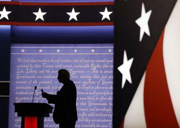 Últimas pruebas en el escenario del debate en Nueva York.