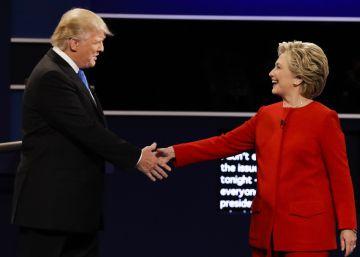 El debate entre Clinton y Trump, en imágenes