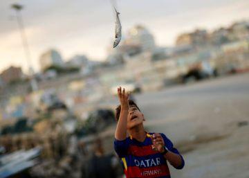 Pescar entre Israel y Palestina