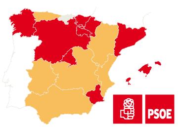 Posición de los secretarios generales del PSOE