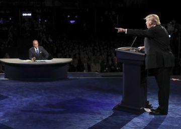 Los momentos más tensos del debate entre Clinton y Trump