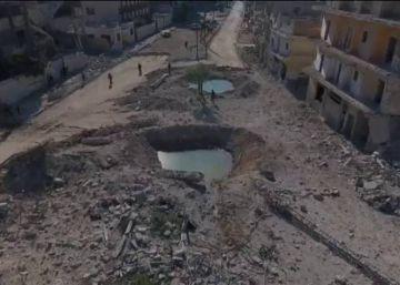 Alepo, completamente destruida por la guerra, a vista de dron